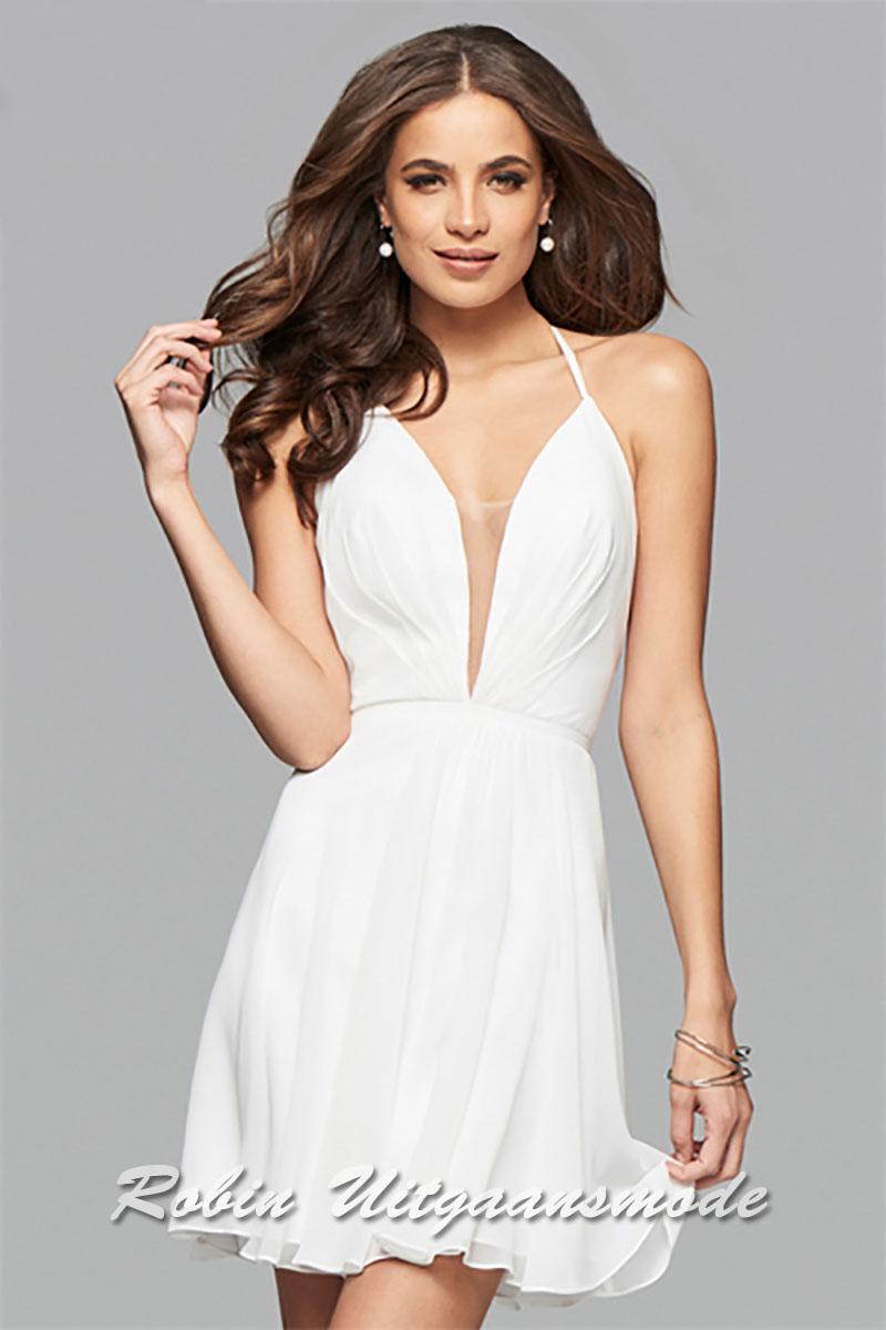 Korte jurk met lage rug